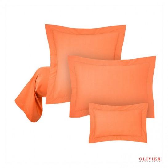 Taie oreiller orange Abadie Literie et Matelas Tropicaux en Martinique
