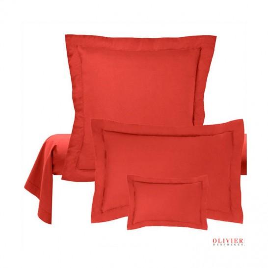 Taie oreiller rouge Abadie Literie et Matelas Tropicaux en Martinique
